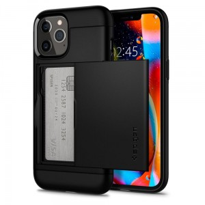 Etui do iPhone 12/12 Pro Spigen Slim Armor SC [czarny]