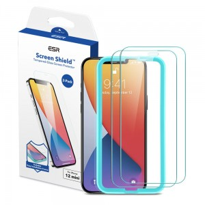Szkło hartowane do iPhone 12 Mini ESR Screen Shield 2-pack clear