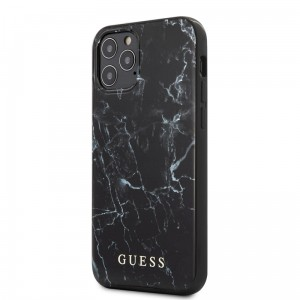 Etui do iPhone 12/12 Pro Guess Marble [czarny]
