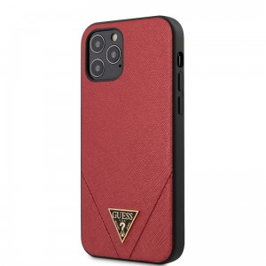 Etui do iPhone 12/12 Pro Guess Saffiano V [czerwony]