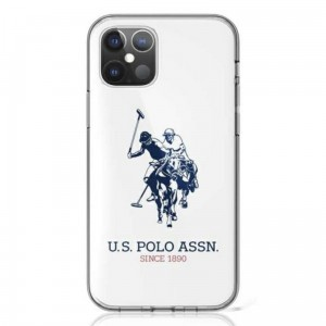 Etui do iPhone 12/12 Pro US Polo Assn Big Double Horse Logo [biały]