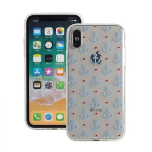 "Fashion Case Print Back [Anchor & Dot], Etui silikonowe na iPhone X/10 (5.8"")"