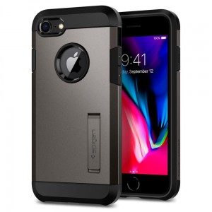 "Etui pancerne do iPhone 7/8 (4.7"") Spigen Tough Armor 2 [stalowe]"