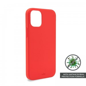 Etui do iPhone 12 Mini Puro Icon Anti-Microbial Cover [czerwony]