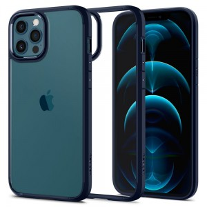Etui do iPhone 12/12 Pro Spigen Ultra Hybrid [ciemnoniebieski]