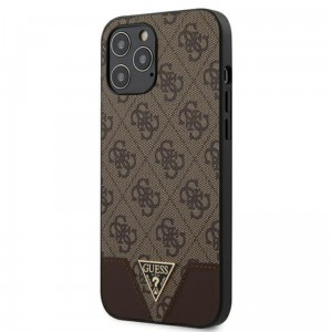 Etui do iPhone 12 Pro Max Guess 4G Triangle Collection [brązowy]