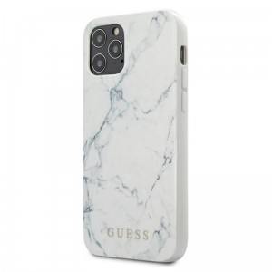 Etui do iPhone 12 Pro Max Guess Marble [biały]