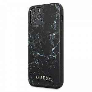 Etui do iPhone 12 Pro Max Guess Marble [czarny]