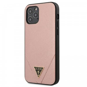 Etui do iPhone 12 Pro Max Guess Saffiano V [różowy]