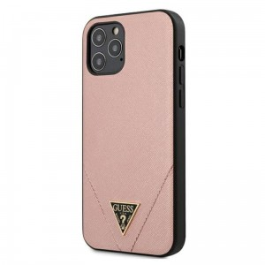 Etui do iPhone 12/12 Pro Guess Saffiano V [różowy]
