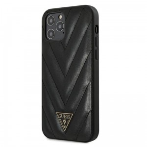 Etui do iPhone 12/12 Pro Guess V Quilted [czarny]