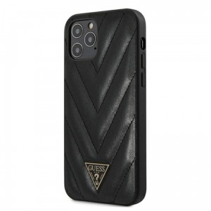 Etui do iPhone 12 Pro Max Guess V Quilted [czarny]