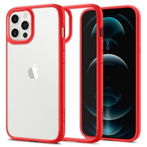 Etui do iPhone 12/12 Pro Spigen Ultra Hybrid [czerwony]