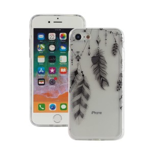 "Fashion Case Print Back [Feather], Etui silikonowe na iPhone 7/8 (4.7"")"