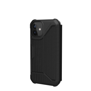 Etui do iPhone 12 Mini UAG Metropolis FIBRARMR z klapką [czarny]