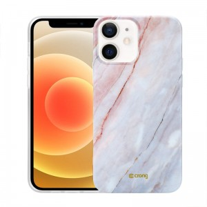 Etui do iPhone 12 Mini Crong Marble Case [różowy]