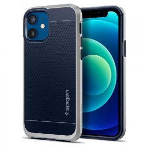 Etui do iPhone 12/12 Pro Spigen Neo Hybrid [srebny]