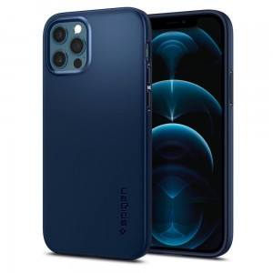Etui do iPhone 12/12 Pro Spigen Thin Fit [granatowy]