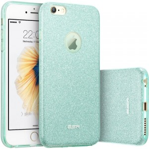 "ESR Glitter Shine Cover [zielone], Brokatowe etui na iPhone 6/6S (4.7"")"