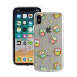 "Etui do iPhone X/XS (5.8"") Fashion Case Print Back [Owl],"
