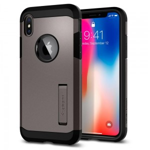"Spigen Tough Armor [stalowe], Pancerne etui dla iPhone X/10 (5.8"")"