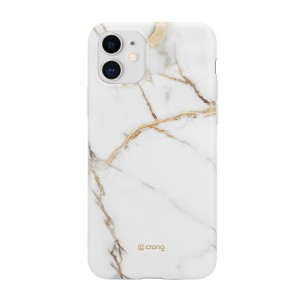 Etui do iPhone 11 Crong Marble Case [biały]