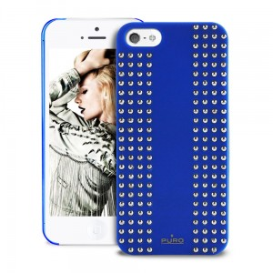 PURO Rock v.1 Cover [Blue], Etui dla iPhone SE/5/5S