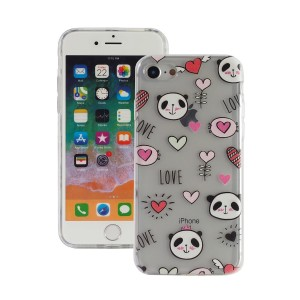 "Fashion Case Print Back [Panda & Love], Etui silikonowe na iPhone 7/8 (4.7"")"