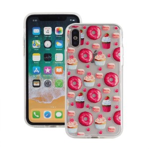 "Etui do iPhone X/XS (5.8"")Fashion Case Print Back [Donuts],"