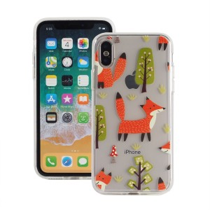"Etui do iPhone X/XS (5.8"") Fashion Case Print Back [Fox & Tree],"