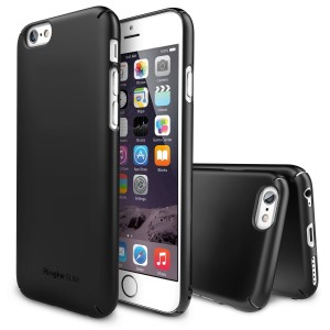 "Etui do iPhone 6/6S (4.7"") Rearth Ringke SLIM Case [czarne],"