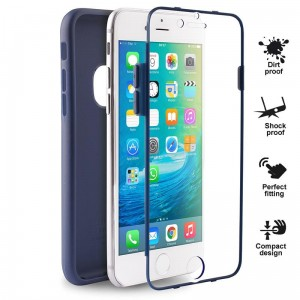 "PURO Total Protection Cover [granatowe], Etui na iPhone 6/6S (4.7"")"
