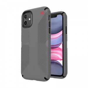 Etui do iPhone 11 Speck Presidio2 Grip z powłoką Microban [szary]