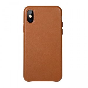 Benks Eleleat Leather Case [brązowe], Hardcover na iPhone X