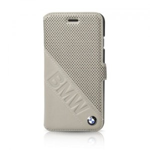 "BMW Book Cover [beżowe], Skórzane etui do iPhone 6/6S (4.7"")"