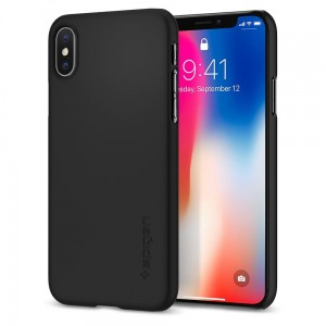 "Etui na iPhone X /XS(5.8"") Spigen Thin Fit [czarne],"