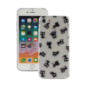 "Fashion Case Print Back [Black Cat], Etui silikonowe na iPhone 7/8 (4.7"")"