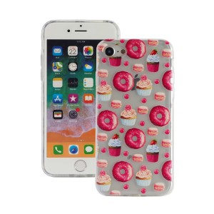 "Fashion Case Print Back [Donuts], Etui silikonowe na iPhone 7/8 (4.7"")"