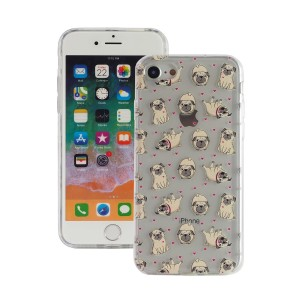 "Fashion Case Print Back [Pug & Love], Etui silikonowe na iPhone 7/8 (4.7"")"