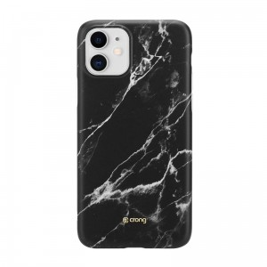 Etui do iPhone 11 Crong Marble Case [czarny]