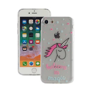 "Fashion Case Print Back [Unicorn & Magic], Etui silikonowe na iPhone 7/8 (4.7"")"