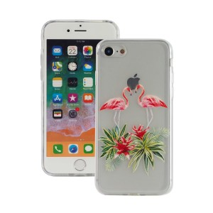 "Fashion Case Print Back [Two Flamingos], Etui silikonowe na iPhone 7/8 (4.7"")"