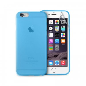"PURO Ultra Slim ""0.3"" Cover [Blue], Cienkie etui + folia dla iPhone 6/6S (4.7"")"