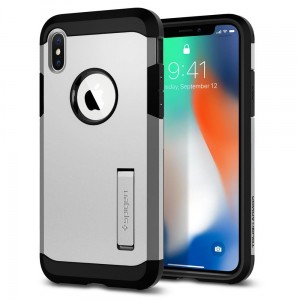 "Spigen Tough Armor [srebrne], Pancerne etui dla iPhone X/10 (5.8"")"