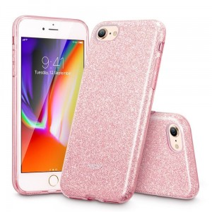 "Etui do iPhone 7/8 (4.7"") ESR Glitter Shine Cover [różowe złoto - brokatowe]"