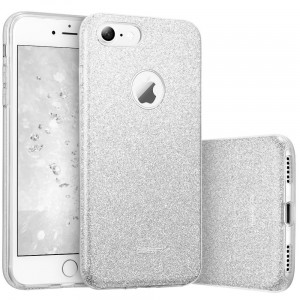 "ESR Glitter Shine Cover [srebrne], Brokatowe etui na iPhone 7/8 (4.7"")"