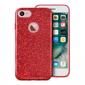 "PURO Glitter Shine Cover [czerwone], Brokatowe etui na iPhone 7/8 (4.7"")"