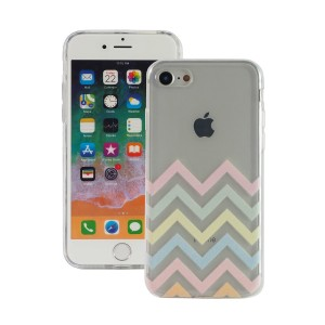 "Fashion Case Print Back [Pastel Zig Zag], Etui silikonowe na iPhone 7/8 (4.7"")"