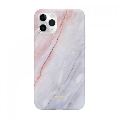 Etui do iPhone 11Pro Crong Marble Case [różowy]