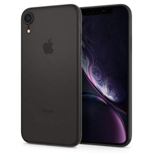 Etui do iPhone XR Spigen Airskin [czarne]